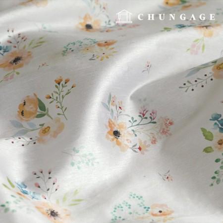 Hanbok Fabric Florin Poly Hanbok Cloth Cheollick Flower Floral Pattern 056