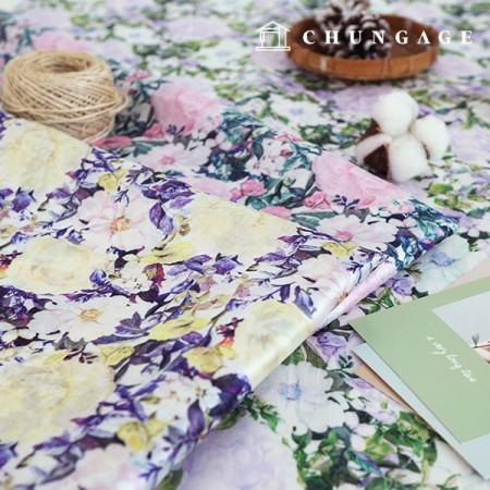 Hanbok Fabric Hamchorom Poly Hanbok Cloth Cheollic Flower Floral Pattern 3 Types