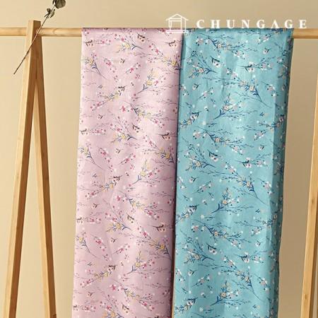 Hanbok Fabric Plamo Poly Hanbok Cloth Cheolrick Flower Floral Pattern 2 Types