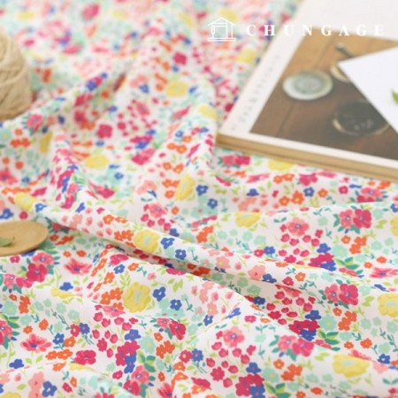 Poly Fabric Zirmen Wide Blouse Fabric My Heart Garden 028