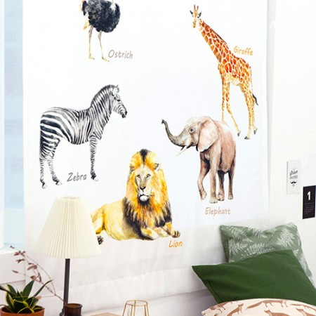 simple blackout cloth African animals blackout cloth curtain cloth curtain cloth curtain cloth