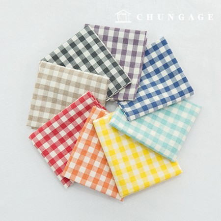 Fabric Package Washing Melan Series Check Package 1/8 Hermp 8 Pack Vivid Color