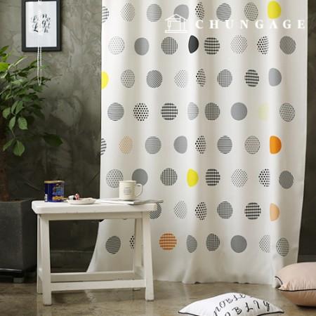 simple blackout cloth Nordic dot blackout fabric curtain cloth curtain fabric curtain cloth