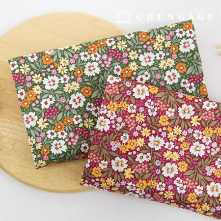 20 cotton flower fabric, 2 types