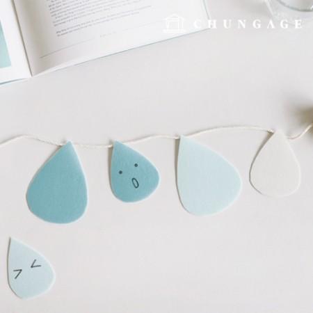 DIY Felt Paper DTP Raindrop Non-adhesive Polka Dot Felt Paper 052