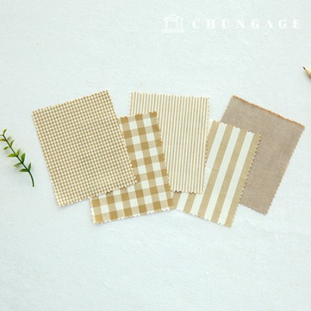 Cotton Check Fabric 20 Count Ombre Dyed Terminated Plain Stripe Gingham Check Fabric Beige 5 Types