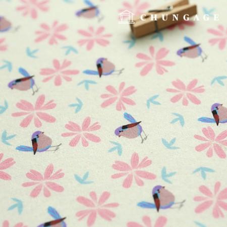 Felt Paper DTP Blentang Non-Adhesive Bird Pattern Felt Paper 036