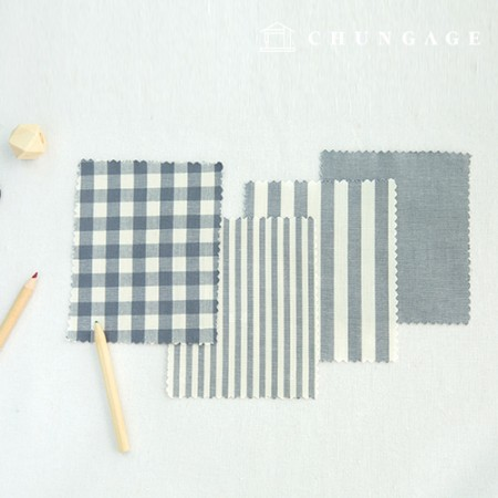 Cotton Check Fabric 20 Count Ombre Dyed Terminated Plain Stripe Gingham Check Fabric Gray 4 types