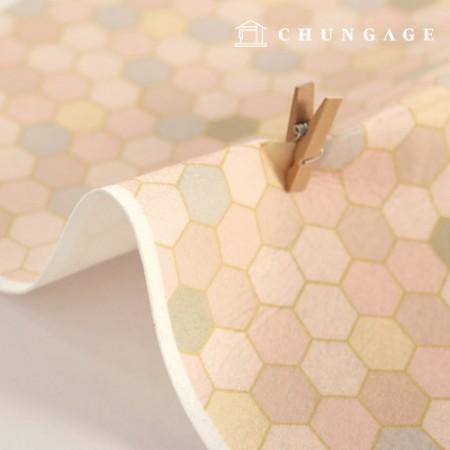 Felt Paper DTP Soft Cream Non-Adhesive Patterns Pattern Felt Paper 214