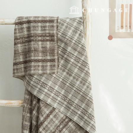 15th Anniversary Sale Ethnic Cotton Fabric Jacquard Brown