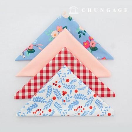 Fabric Package It's Package 072 Flower & Fruit 1/4Hermp 4 Pack