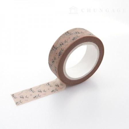 Design Paper Masking Tape Atrium Flower TA058