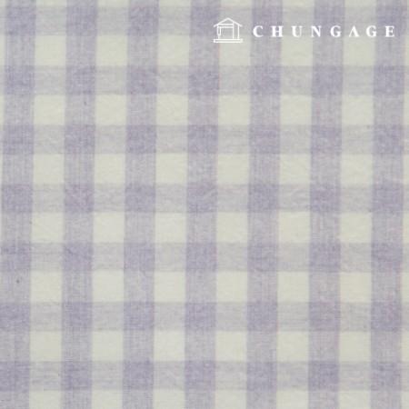 Waterproof Fabric Laminate Non-toxic TPU Waterproof Fabric Wide Melange Check Fabric Light Purple 425
