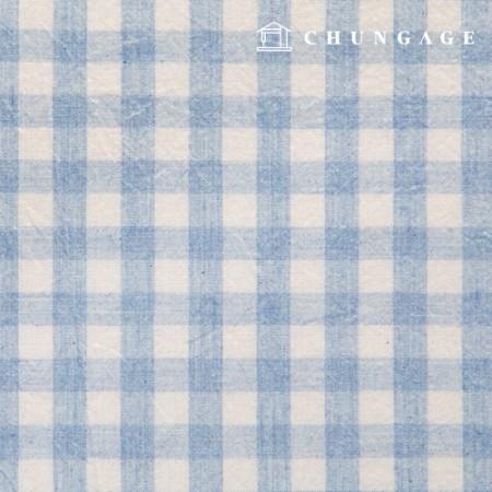 Waterproof Fabric Laminate Non-toxic TPU Waterproof Fabric Wide Melange Check Fabric Sky Blue 416