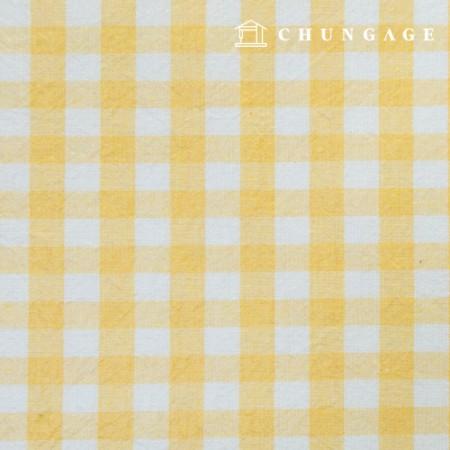 Waterproof Fabric Laminate Non-toxic TPU Waterproof Fabric Wide Melange Check Fabric Yellow 433-1