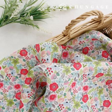 Silk Fabric Refrigerator Fabric Fluorescent Fabric Soft Fabric Summer Mask Earl Gray Flower 916