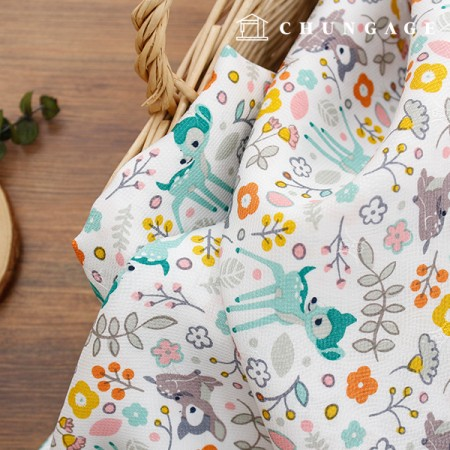 Silk Fabric Refrigerator Fabric Non-Fluorescent Fabric Soft Material Summer Mask Making May Lily 914