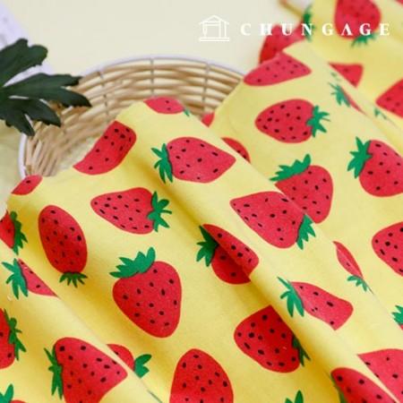 Cotton brushed microfiber fabric, strawberry shushu