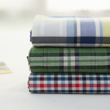 Cotton Fabric Check Ombre Vintage Fabric 40 Water Lemonade 3 Types