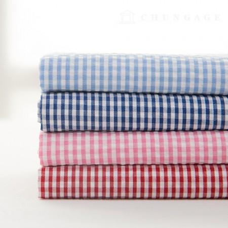 Check Ripple Jijimi Fabric Summer Fabric Jam Jam 0.4cm 4 Pieces