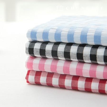 Check Ripple Jijimi Fabric Summer Fabric Jam Jam 1cm 4 Pieces