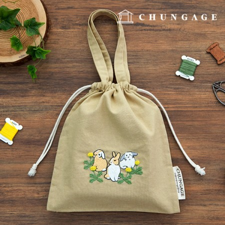 French Embroidery Package Animal DIY Kit My Rabbit Eco Bag CH-560156 Homemade Hobby