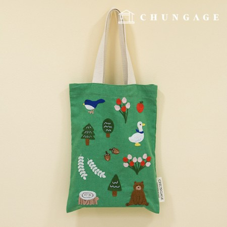 French Embroidery Package Animal DIY Kit Unexpected Luck Eco Bag CH-560155 Homemade Hobby