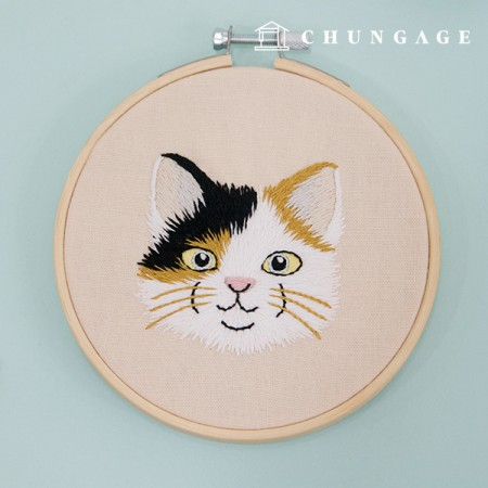 French Embroidery Package Animal DIY Kit Cats Taylor CH-511387 Homemade Hobby