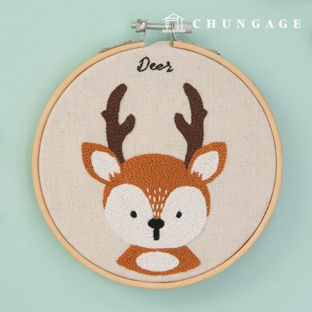 French Embroidery Package Animal DIY Kit Forest Friends Dear CH-511382 Hobby you can do at home
