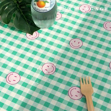 Waterproof Fabric Non-toxic TPU Laminate Fabric Happy Mellow
