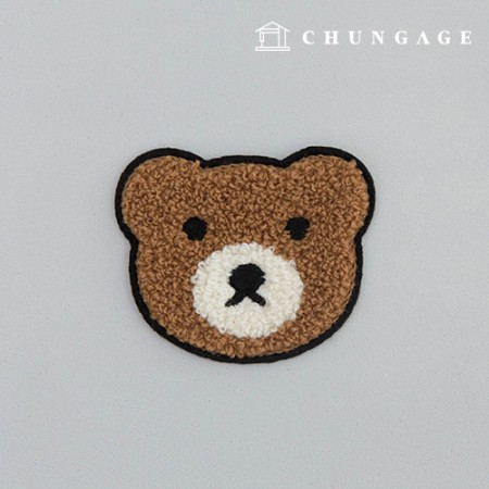 Adhesive waffle pan with teddy bear face and fan Brown booklet with fan teddy bear and fan 133