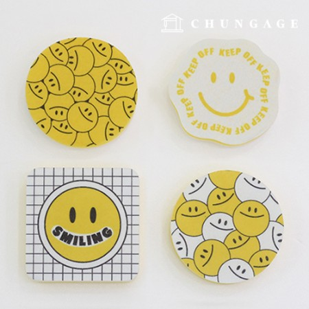 Smile Loofah Sponge Non-woven Dishwashing Kitchen Bathrooms 4 all-purpose sponges for toilet cleaning