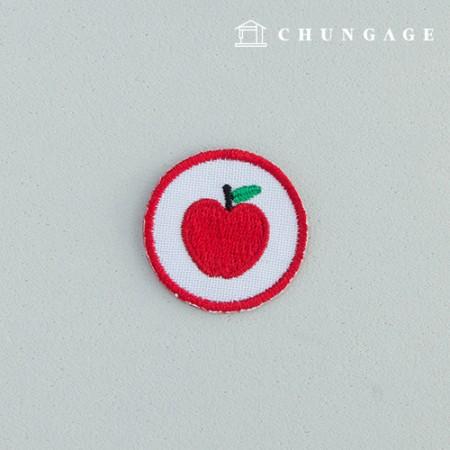 Adhesive Waffen Pan Circle Apple Red Apple Pan 116
