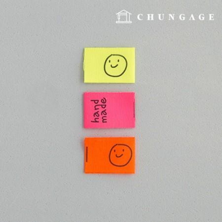 Fit Label Fluorescent Smile Handmade 5 Pieces KL052