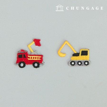 Adhesive Wafer Pan Mini Fork Crane Fire Truck Car Wafer Pan 115 2 Types