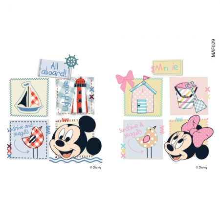 Clothing Transfer Paper Let's Leave With Mickey Eco Bag Reform Thermal Transfer Film Sticker MAF029