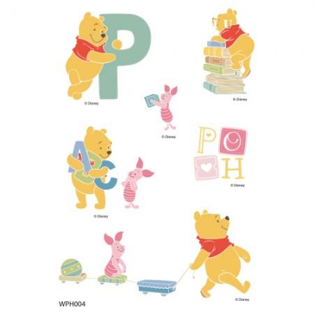 Clothing Transfer Paper Pooh Alphabet Play 1 Eco Bag Reform Thermal Transfer Film Sticker WPH004