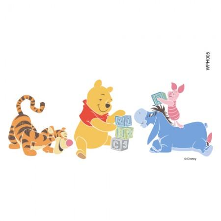 Clothing Transfer Paper Pooh Alphabet Play 2 Eco Bag Reform Thermal Transfer Film Sticker WPH005