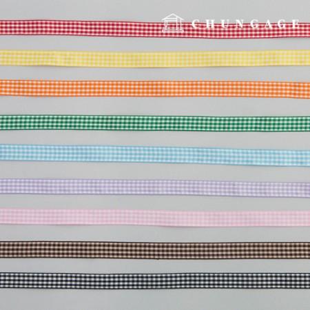 Check Ribbon Packaging Ribbon Hairpin Making Mask Strap Making Check Ribbon Tape 15mm 9 Types