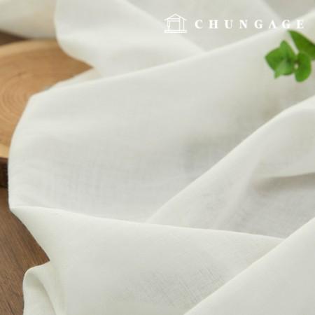 Wide melancholic yarn-dyed Gauze double cotton fabric breeze whiteivory