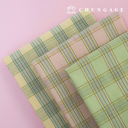 30 water yarn-dyed washing cotton fabric milky check 3 types