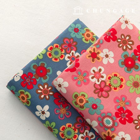 Cotton Fabric 20 count Oxford Gel Flower 2 types 900