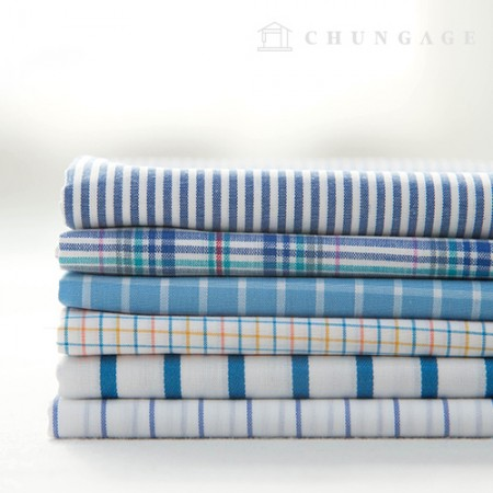 Cotton Check Fabric Ombre Dyed Check Stripe Morning 6 Types