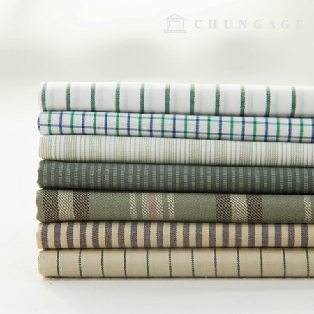 7 types of cotton check fabric yarn dyed Stripe nature