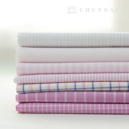 Cotton check fabric Ombre dyed check Stripe plain sugar 7 kinds