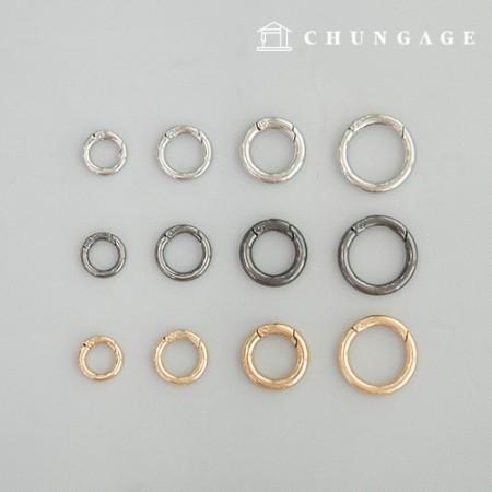Open key ring Oring Oring ring Macrameo ring Open key ring