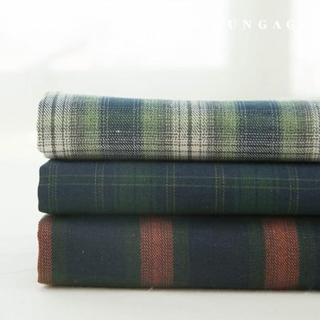 3 types of hemp check fabric cotton blend yarn dye check camping check