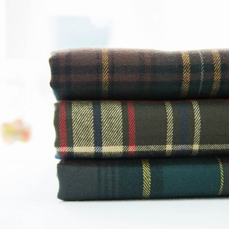 Cotton Raised Check Fabric Vintage Fabric Ribs 3 Types
