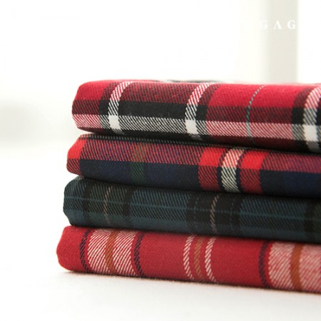 Cotton Raised Check Fabric Vintage Fabric Black Forest 4 Types