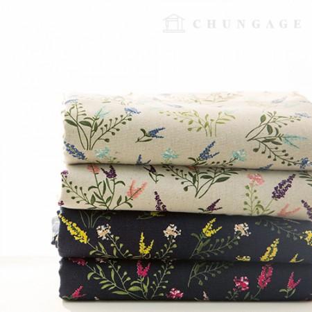Linen wide 11 stitch fabric 4 kinds of wild flower wind